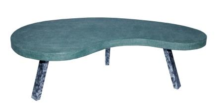 sanaco faux shagreen coffee kidney table
