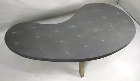 Faux shagreen coffee kidney table