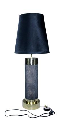 Sanaco Faux Shagreen table lamp with polished brass