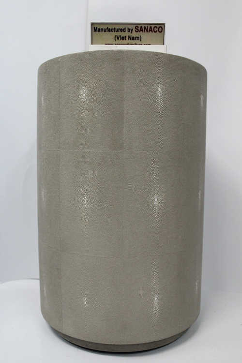 Faux Shagreen Side Table ( Round)