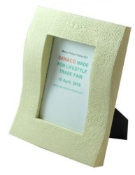 "Faux shagreen photo frame 4"" x 6"""