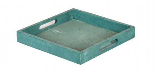 Faux shagreen square tray