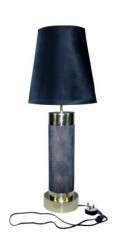 Daphoco Faux Shagreen table lamp with polished brass