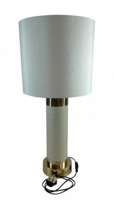 Sanaco faux turtle table lamp with polished brass aloadofball Choice Image