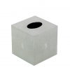 Square Faux Shagreen Tissue Box in Taupe color