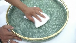 How to care for Faux Shagreen finishing products