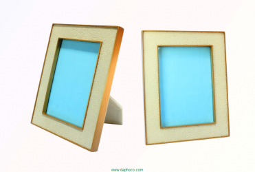 Faux shagreen photo frame