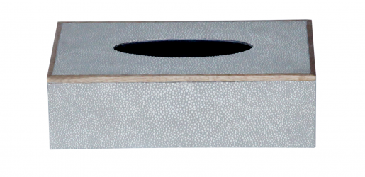 Rectangular Faux Shagreen Tissue Box IN TAUPE