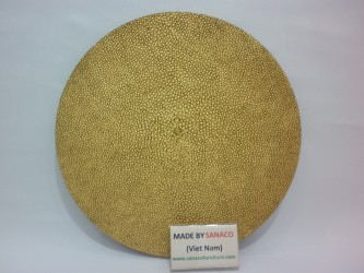 Faux shagreen Place mats in Gold Antique
